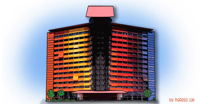 Cultura mi petit madrid detr s de la fachadadel for Hotel puerta america