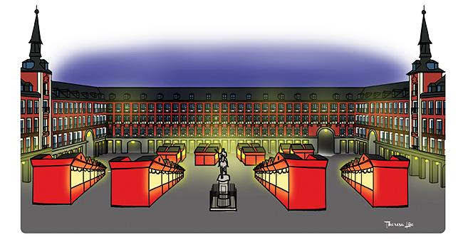 Si hoy en día el Mercado navideño de la Plaza Mayor es un clásico de las  fiestas en la Villa d39e11f9a11